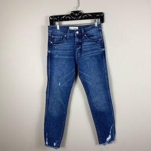 Gap high rise distressed slim straight jeans